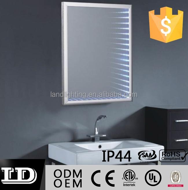 infinito espejo luz vanidad de bao espejo con luz led maquillaje espejo con marco de aluminio