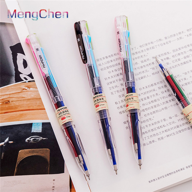 Bangladesh new popular office school stationery gift items custom eco friendly plastic multi color flat ballpoint pen 0.5mm 008