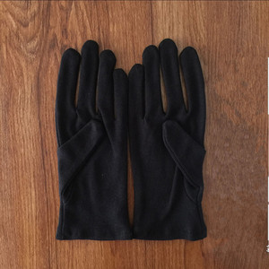 Cotton Black Thin Gloves Performances Working Workplace Gloves