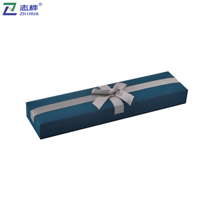 ZHIHUA brand blue a bow tie decoration rectangle gift packaging paper jewelry box