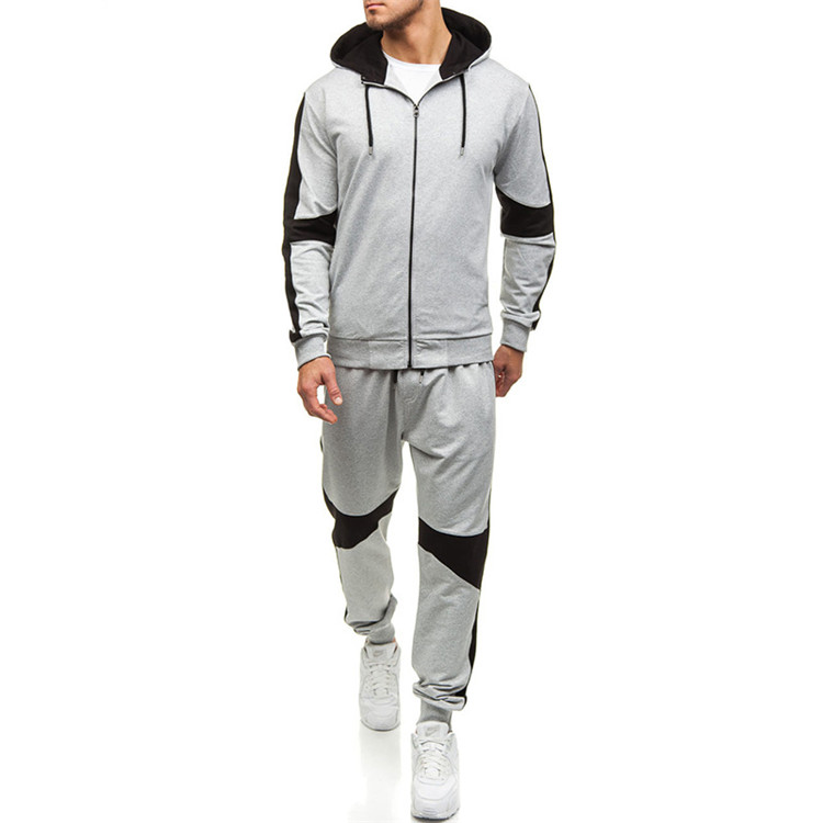 Wholesale Custom Casual Long Sleeve Set Zip-Up Sport Tracksuit For Men