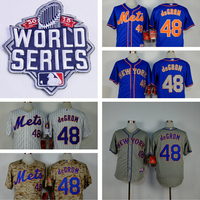 New York Mets 48 Jacob deGrom Jerseys 2015 New Embroidery Stitched Shirt Sports Dress Outlets Free Shipping Camisa