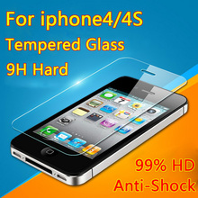 Ultra Thin 0.26mm 2.5D Premium Tempered Glass Screen Protector For iPhone 4 4S 4C HD iphone4 Toughened Protective Film