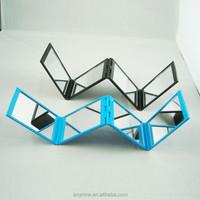 Multi angle foldable 4 sided cosmetic mirror Unique design