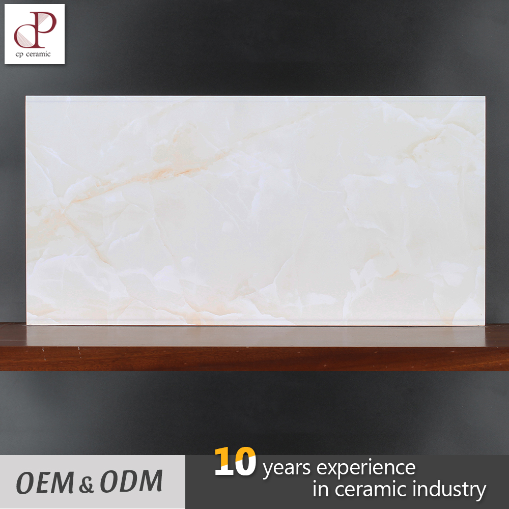 Marble Look Glaze Design White Bathroom Ceramic Wall Tile 30X60 For Sale