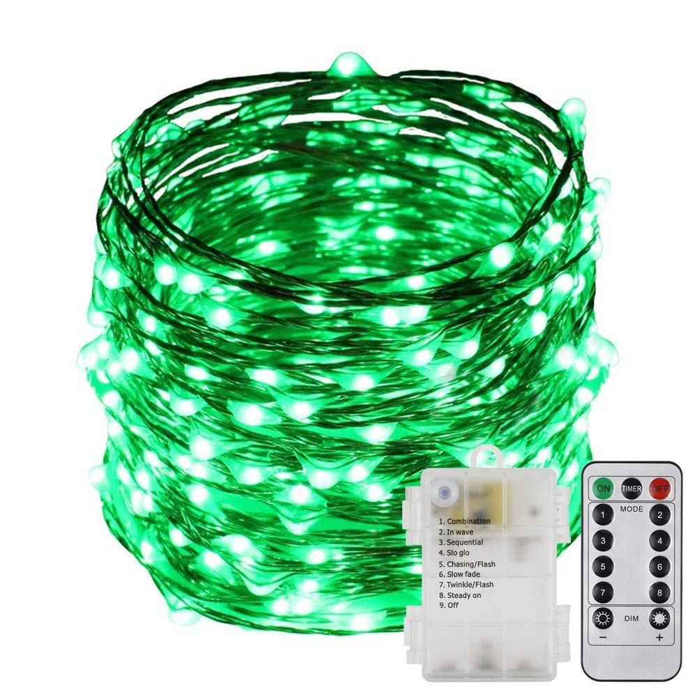 Cheap 240 Lights Find Deals On Line At Alibabacom Wiring Outdoor Patio Get Quotations Erchen Battery Operated 40 Ft Led Fairy Remote Control 8 Modes Dimmable Waterproof