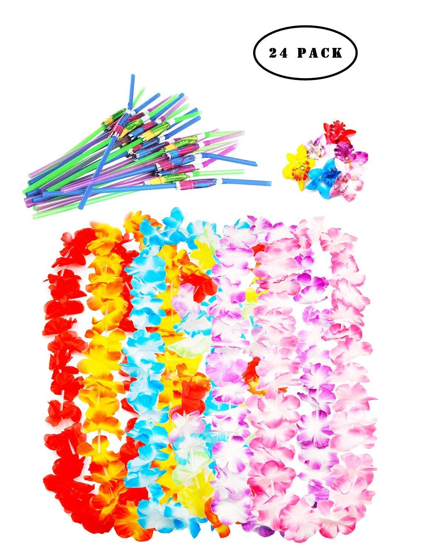 Cheap india hawaiian foam flower hair clips find india hawaiian get quotations 24 pack tropical hawaiian luau lei styles party favors hawaiian leis6pcs hawaiian izmirmasajfo