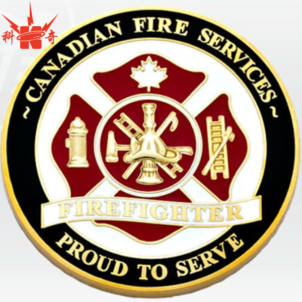 Customized theme canadian fire service souvenir coin for sale