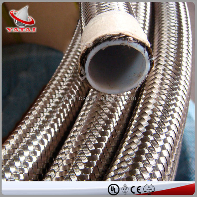 China Tube Manufacture Teflon Hose With SS Braided