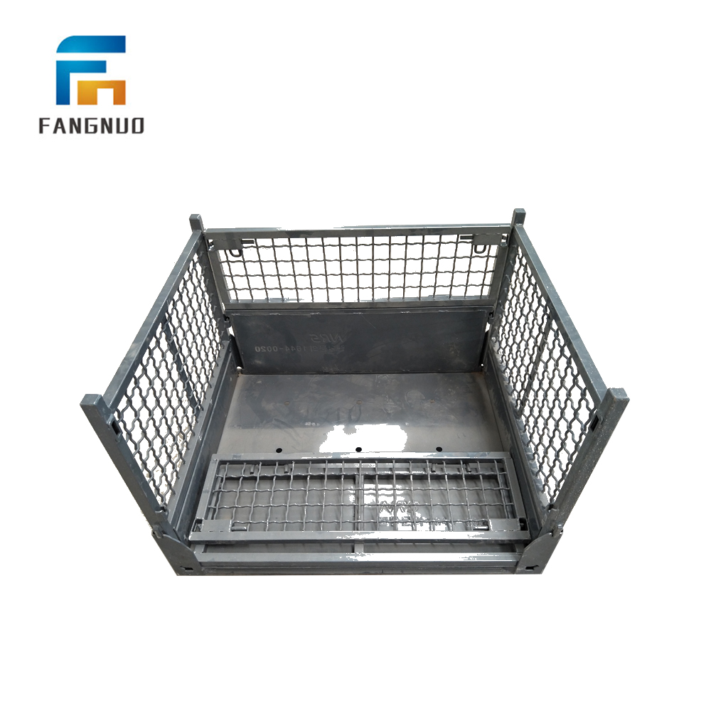 Wire platform Container Metal Wire Mesh Cage /steel pallet box