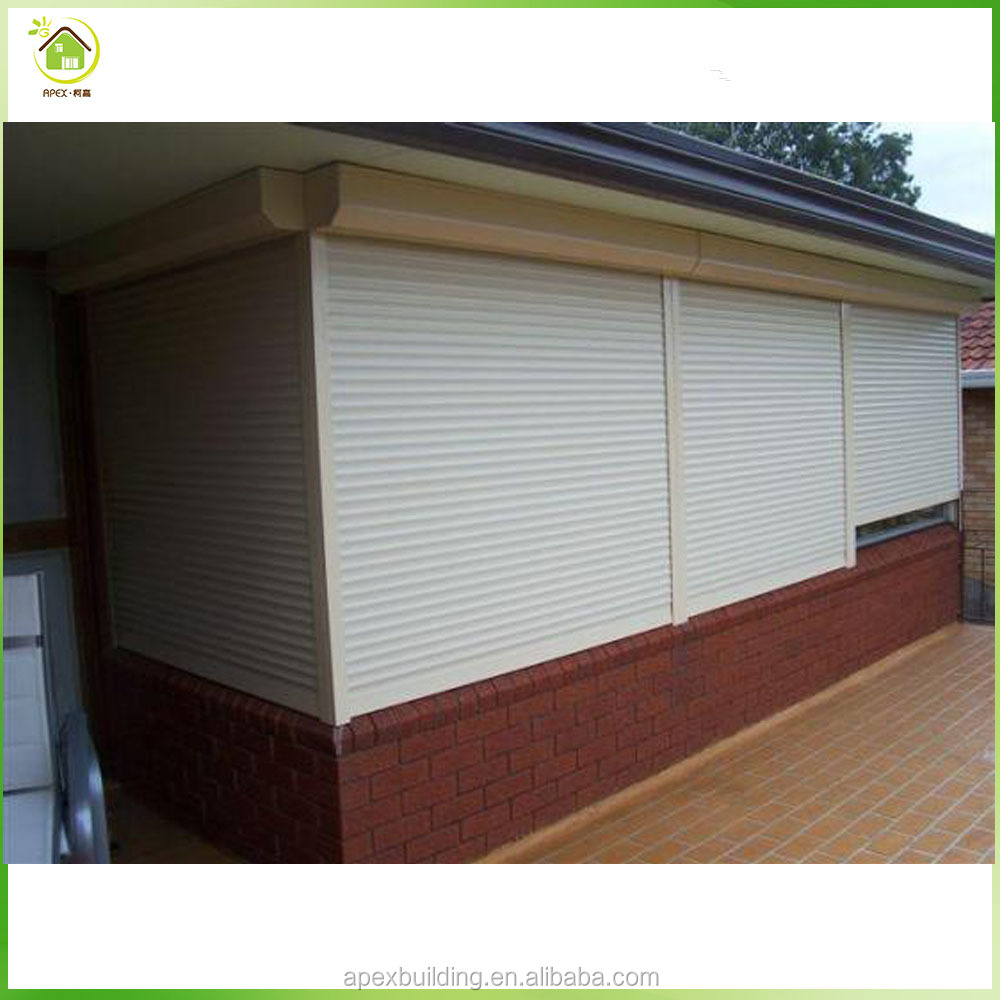 2017 Customize durable electric waterproof aluminium window roller shutters profiles with pu foam