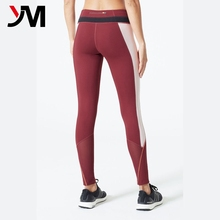 Quick dry yoga activewear women wholesale custom fitness wear yoga pants with mesh insert