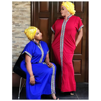 H & D Wholesale Traditional African Dress Plus Size Women Summer Long Dresses