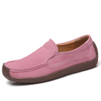 Hand made leather slip-resistant loafer lady shoes summer flat women shoes comfortable slip-on female shoes