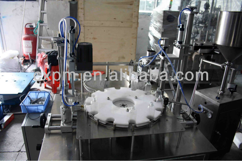 Guangzhou CX practical automatic rotary filler capper machine for bottled hairdressing supplies