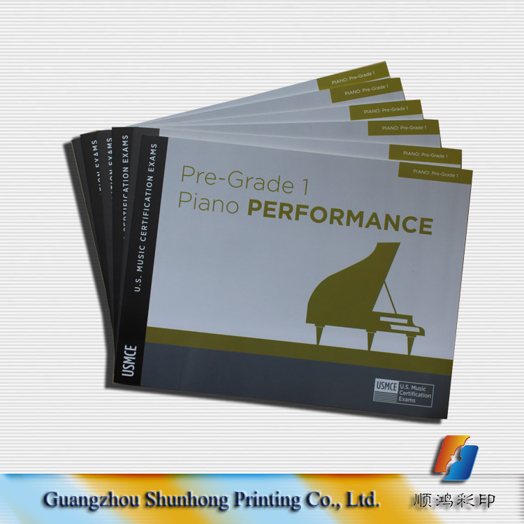 music stave book printing/product catalogue/brochure /magazine printing