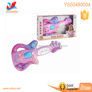 2018 Best gift for kids electronic pink guitar with lighting and 11 songs,girl guitar keyboard