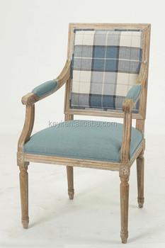 Square Back Solid Wood Coffee Room Use Armchair/ Wooden Wooden Armchair  (CH 970