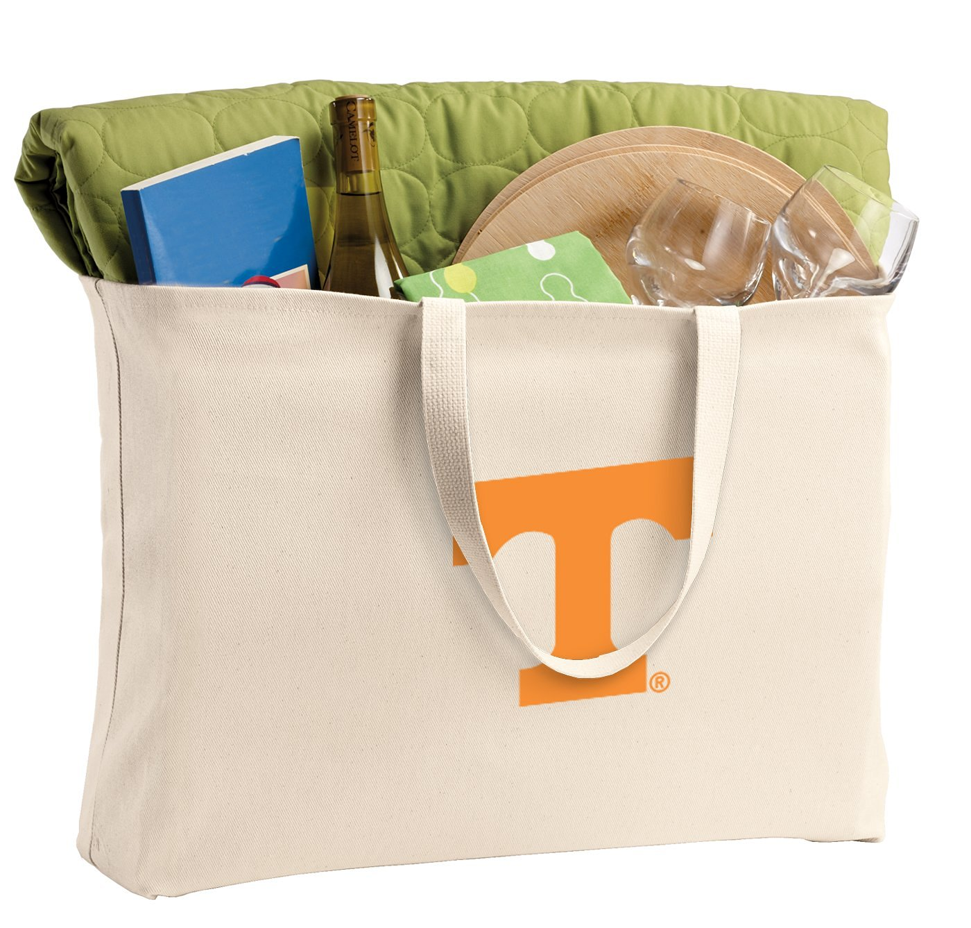 JUMBO University of Tennessee Tote Bag or Large Canvas Tennessee Vols Shopping Bag
