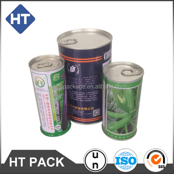 printed round empty metal tin cans for food canning like canned mushroom/bamboo