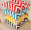 Turquoise and white chevron 100% cotton pillow cover