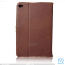 Best selling high quality genuine leather stand cover for ipad mini 4 case with card slot