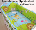 Promotion 6PCS Baby bedding set bed around pillowcase sheet cot crib bedding set include bumpers sheet