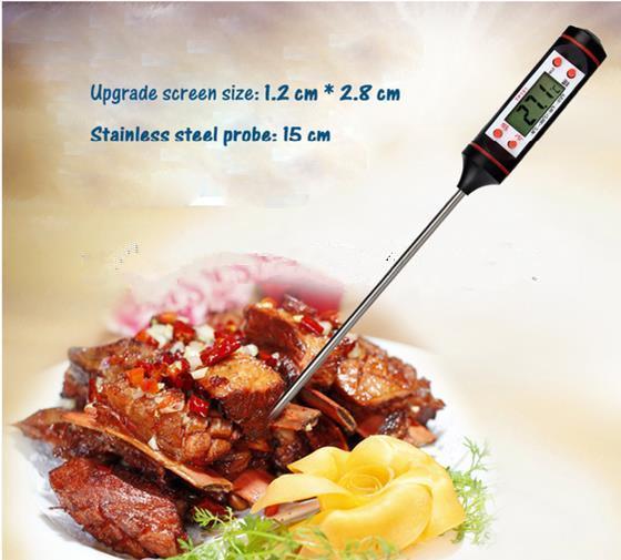 डिजिटल BBQ मांस थर्मामीटर TP101 खाना पकाने रसोई जांच पानी दूध तेल तरल ओवन एलसीडी स्टेनलेस स्टील थर्मामीटर कलम