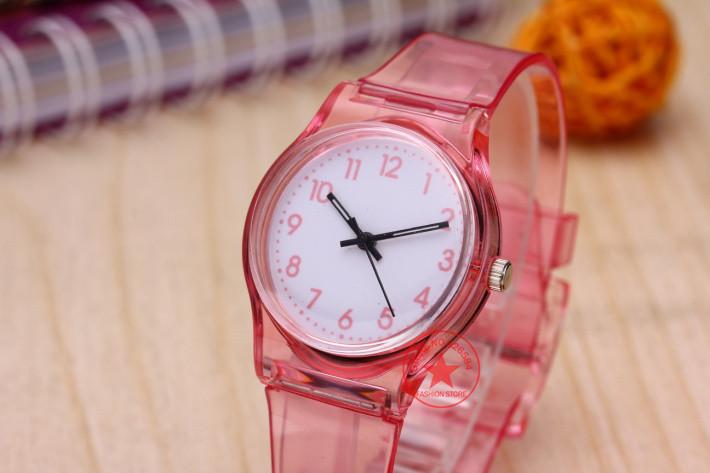 30M Waterproof Fashion Casual Transparent Watch Jelly Small Fresh Children Kids Boys Watch Girls Women Dress Wristwatch Relojes