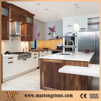 Custom White Artifical Quartz Stone How To Install Kitchen Cabinets