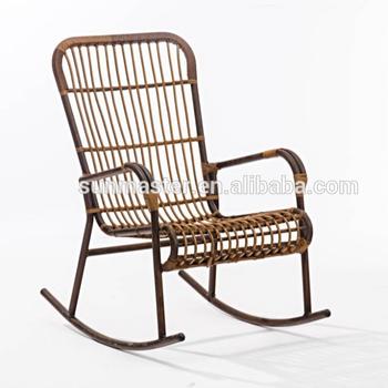Fauteuil à Bascule En Osier Rotin Chaise Berçante Buy Chaises En