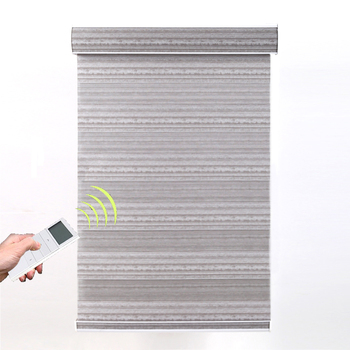Quality window blinds sunscreen electric motorized double layer roller blinds Zebra sheer shades