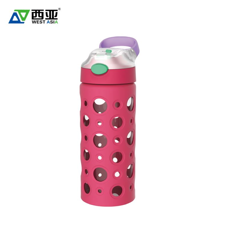 High quality manufacturer silicone sleeve water glass bottles wholesale canada