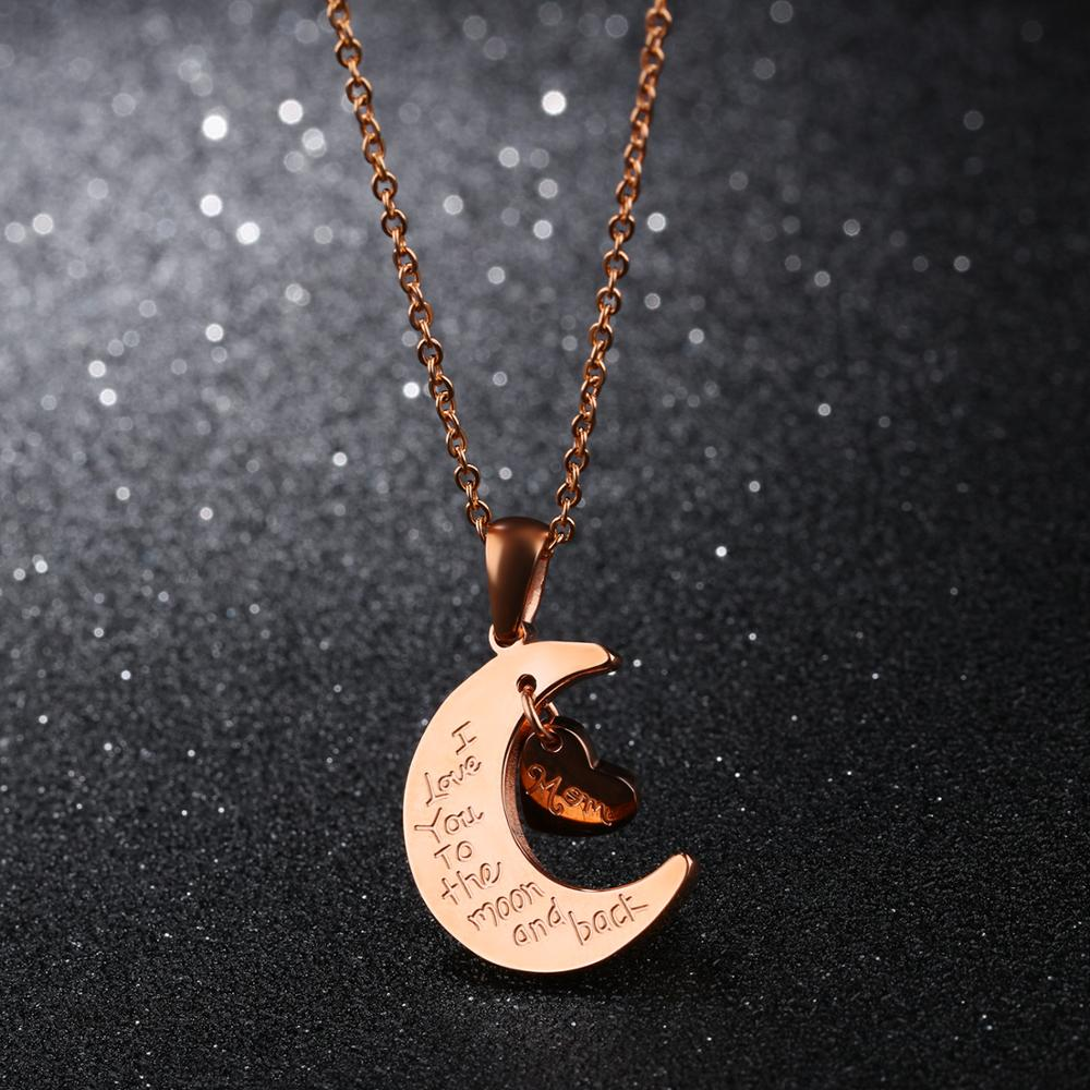 2019 Trending Products Girl Rose Gold Charm Necklace With Quotes