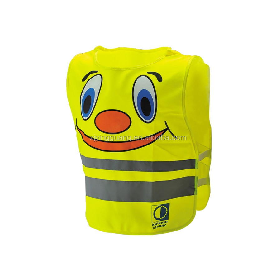 2016 new Safety Children Vest with Reflective Tape and Velcor,ISO20471