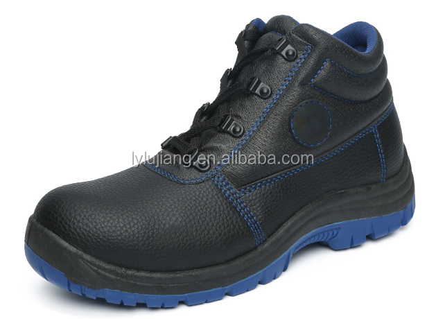 LUJIANG SAFETY new style waterproof pu sole leather upper working industry shoes