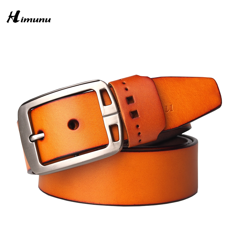 2f07c8e7ddd Get Quotations · 2015 New product mens belts luxury genuine leather brand  name belt for men Pin jeans belts