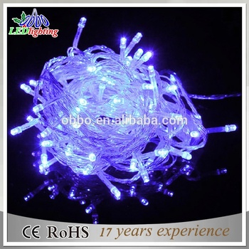10m 100 led clear pvc wire outdoor decoration white color string christmas light