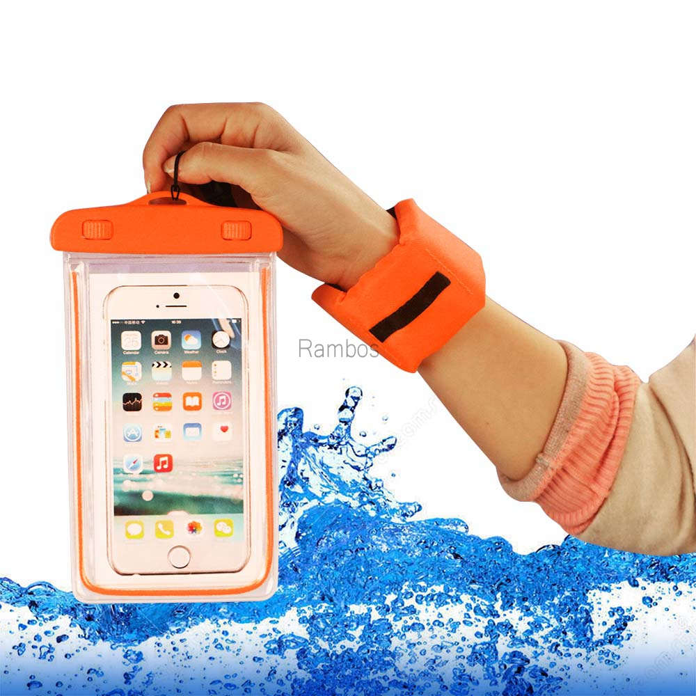 Universal protective pouch glow in the dark waterproof cell phone case
