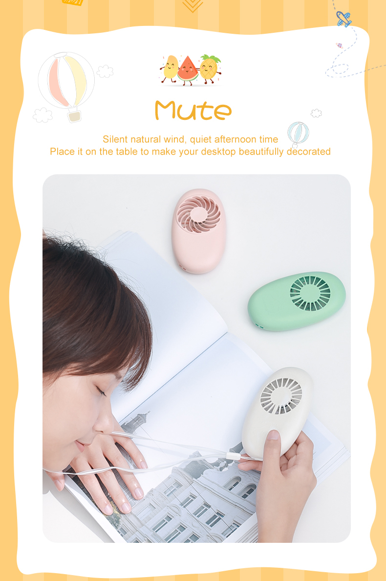 New Design Rechargeable Battery Portable Hand Mini Mango Fan