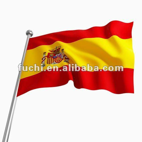 polyester drapeau espagnol espana espagnol drapeau de voiture en stock drapeaux banni res et. Black Bedroom Furniture Sets. Home Design Ideas