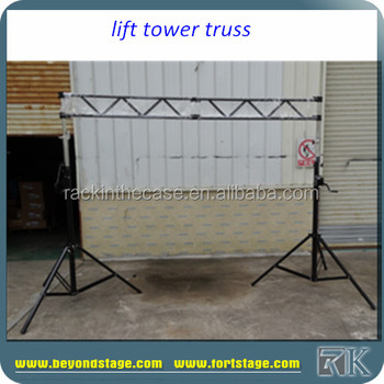 Rk High Quality Telescopic Lifting Tower/crank Up Tower/elevator Stand  Truss For Cheap Price - Buy High Quality Telescopic Lifting Tower,Elevator