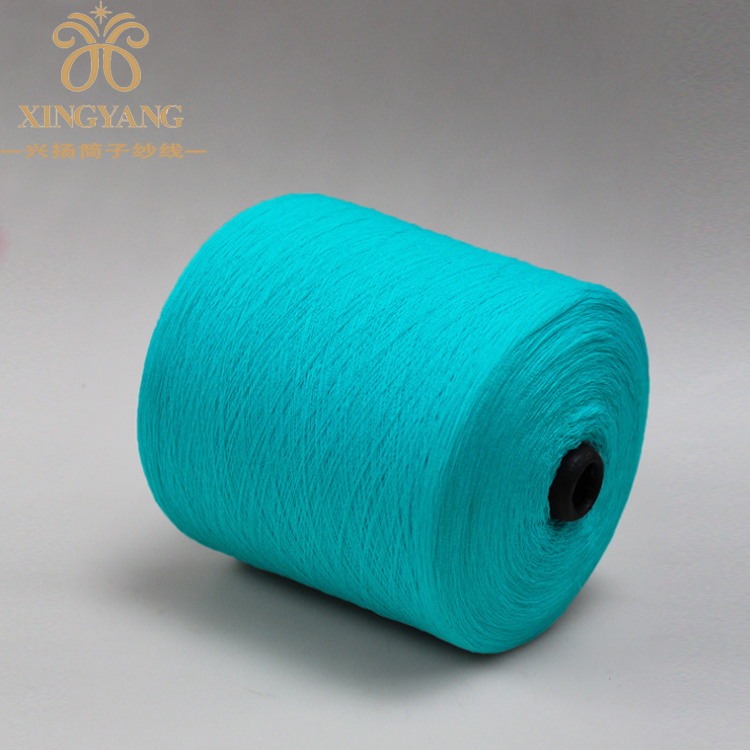 High strength 100% ring spun colored polyester textile yarn for used clothing