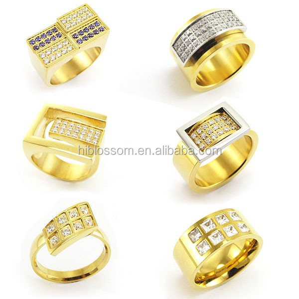 Men Gold Ring Design Stainless Steel Engagement Wedding Ring Buy