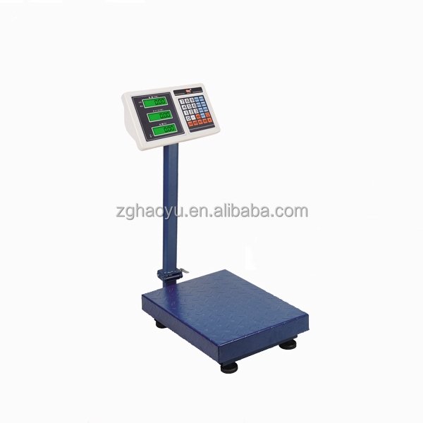 cas weighing scale T6-1zhejiang jiahua led electronic scale steel bench price