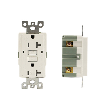 Dual Function GFCI Receptacle, 20 Amp/125V, White America standard us socket