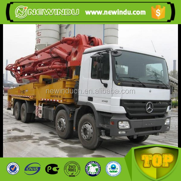 SANY 47m pump truck mounted used concrete pump rubber hose
