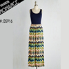 sleeveless boho fancy maxi boutique dress