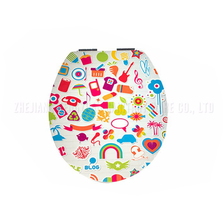 China factory soft close and quick install decorated toilet lids