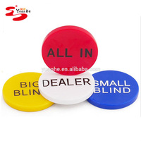 Set of 4 Small Blind, Big Blind, Dealer and ALL IN Poker Buttons